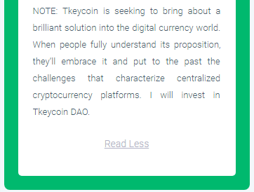 Tkeycoin review by Samson Owiti