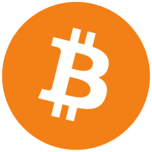 Bitcoin logo - white bitcoin symbol on orange circle