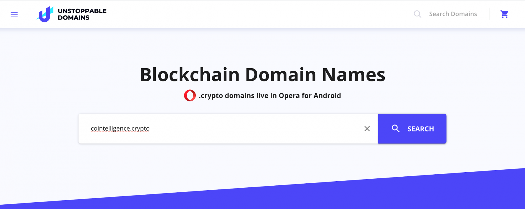 Setting up a blockchain domain