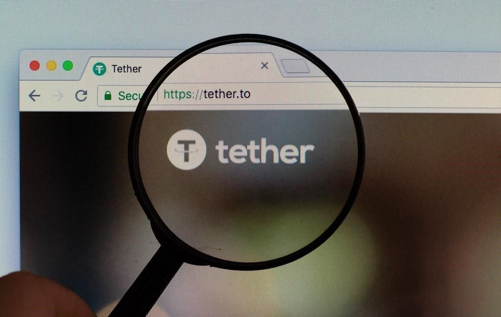 Tether website in a browser window