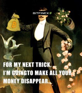 Bitfinex as a magician making money disappear