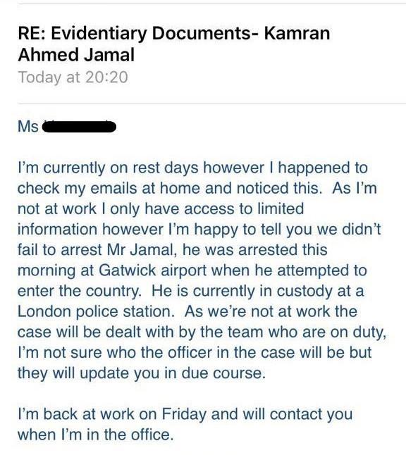 Kamran arrested