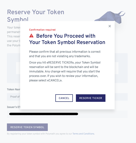 Creating a security token offering on Polymath