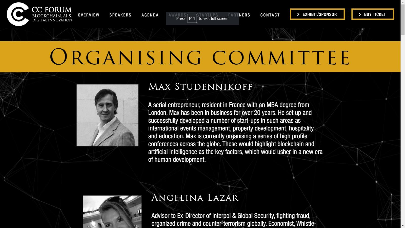 Max Studennikoff on CC Forum website