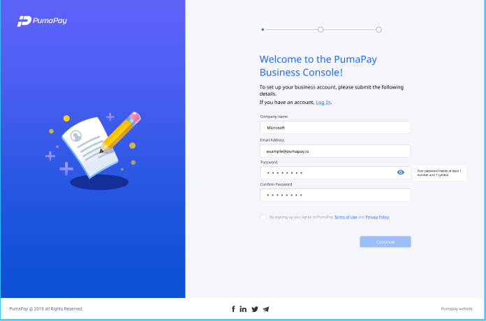 PumaPay Business Console