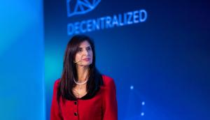 Prof. Louca proudly representing the emerging  Cyprus Blockchain community