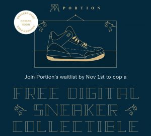 Digital Sneaker Collectible on Portion