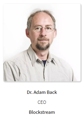 Dr Adam Back, CEO of Blockstream
